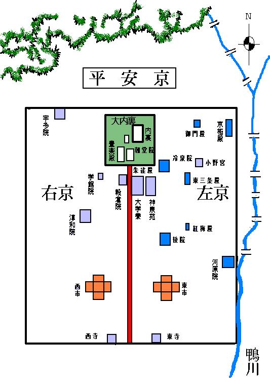 平安京の地図